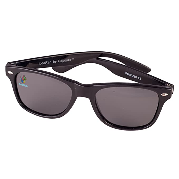 609adbfec3 Kids Polarised Sunglasses by booRah® Full UV400 Protection and Polarised  (Black)  Amazon.co.uk  Clothing
