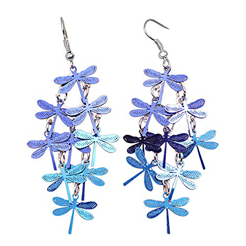 Afco Women Dragonfly Hollow Dangle Hook Earrings,Fashion Christmas Jewelry Gift 5#