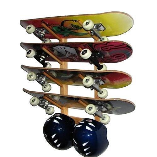 212 Main Wooden Angle Skateboard Display Rack (Holds 4 Skateboards)