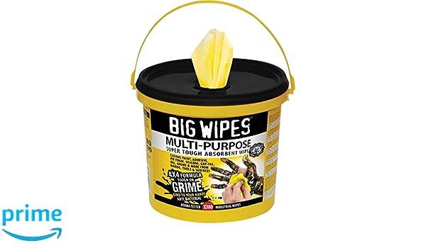 Big Wipes bgw2417 4 x 4 300 multiusos limpieza toallitas cubo - amarillo: Amazon.es: Bricolaje y herramientas