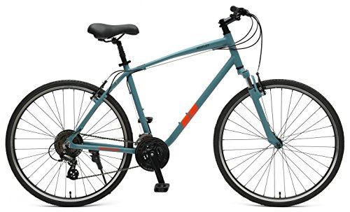 (Retrospec Bicycles Motley Hybrid Bike 21 Speed, Pewter, 16