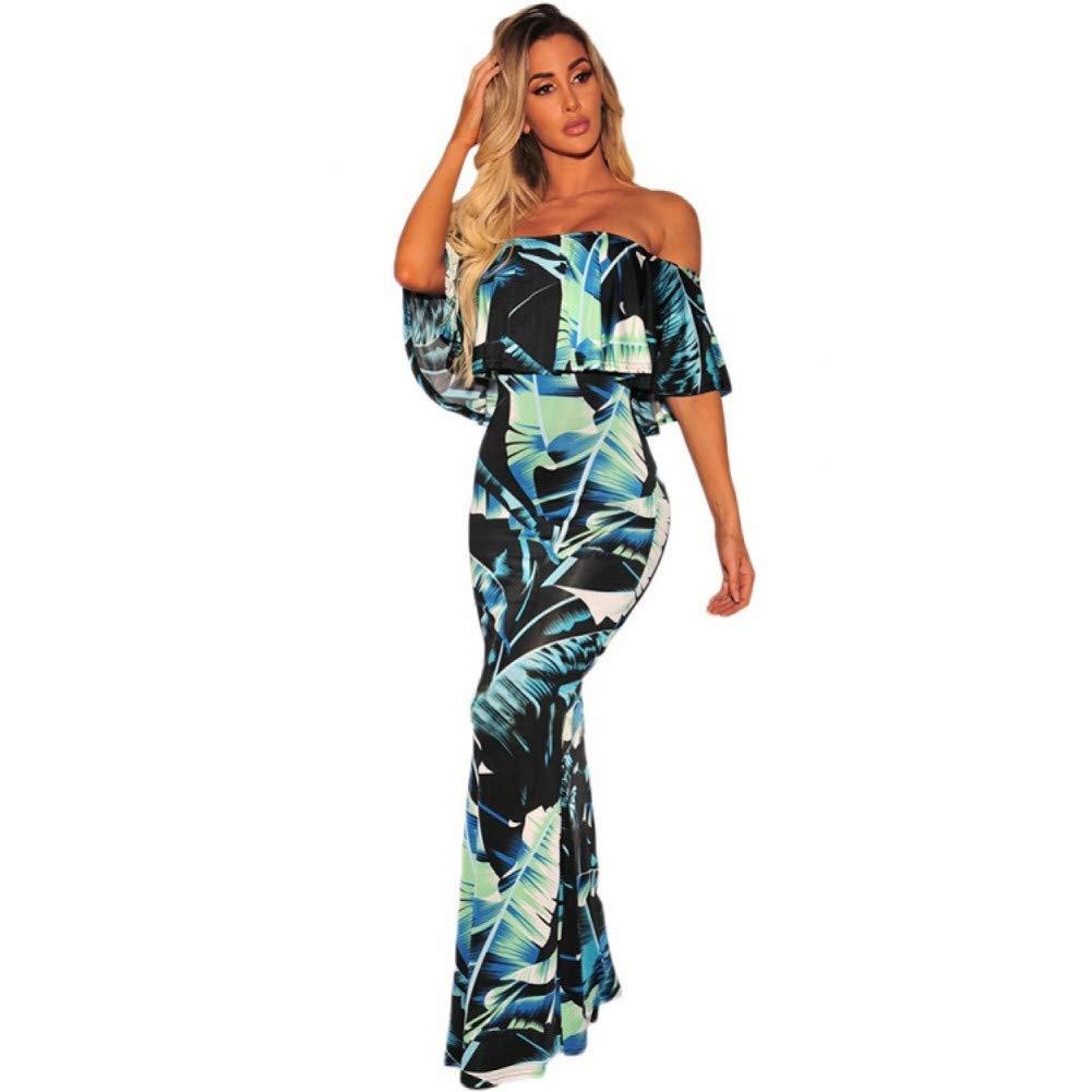102 Dress for Women,Summer Women's Tropical Print Short Sleeve Long Dress Elegant Bohemia Party Dress Beach Dress Maxi Dresses