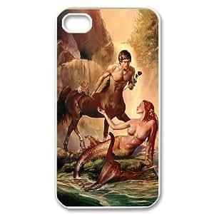 Iphone 4,4S Little mermaid Phone Back Case Customized Art Print Design Hard Shell Protection LK028318