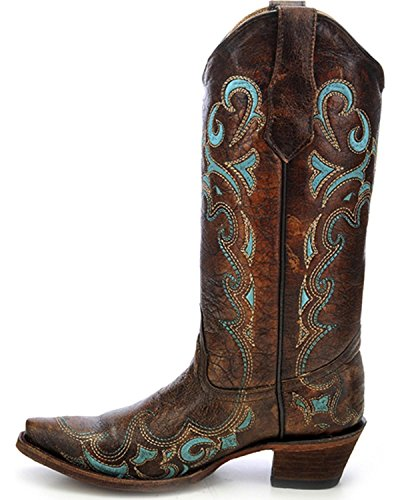 Brown Vaquero Mujer Botas Corral BootsL5193 Turquoise De zpUXXw