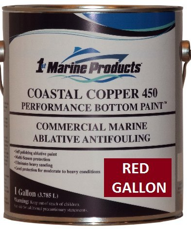RED GALLON Coastal Copper 450 Ablative Antifouling Bottom Paint RED GALLON - Micron Csc Antifouling Bottom Paint