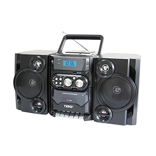 Naxa Portable MP3/CD Player W/ AM/FM Stereo Radio Cassette Player/Recorder - 1 Year Direct Manufacturer Warranty