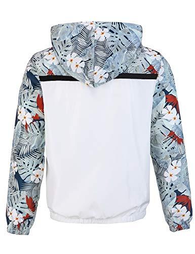 Con Sport M Cremallera Sport Primavera Estampado Y Para Capucha Colores De Hombre Con White Otoño Sudadera dFpwAd