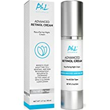 Retinol Cream Moisturizer for Face - Eyes and Neck |Anti Aging Night Cream with Hyaluronic Acid + Vitamin C +Vitamin E | Reduces Fine Lines, Wrinkles, Acne & Age spots. 1.7 fl.oz.