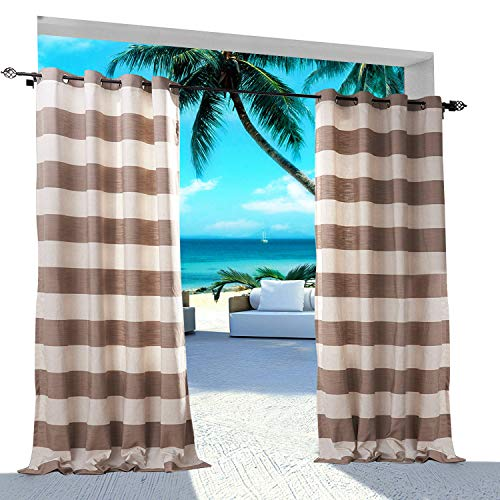 Extra Wide Gingham Plaid Outdoor Curtain 150