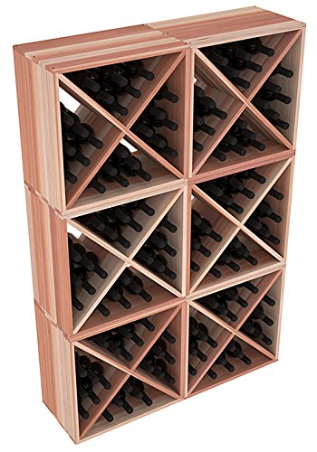 Wine Racks America Redwood 144 Bottle Wine Cube. Unstained