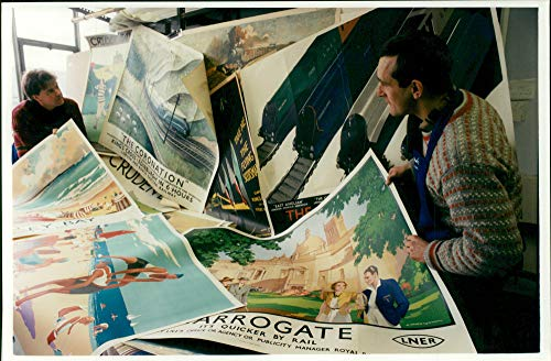 Vintage Poster Auction - Vintage photo of Railway Poster in auction