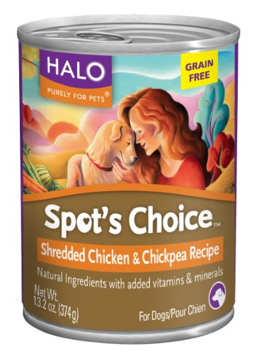 Halo Spot's Choice for Dogs, Chicken and Chickpea, 13.2oz/12 Cans, My Pet Supplies