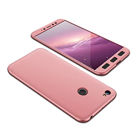 Funda XiaoMi RedMi Note 5A Prime, 3 en 1 Desmontable Anti-Arañazos Hard PC Carcasa 360° Full-Cover Anti-Choque Protective Funda para XiaoMi RedMi Note ...