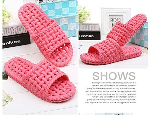 fondo ducha par Señoras playa suaves de zapatillas baño casa B zapatillas interior Slip On 2 Zapatillas Leaky EVA sandalias de vBgvYUr