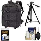Lowepro Pro Runner RL x450 AW II DSLR Camera Backpack Case (Black) with Tripod + Accessory Kit