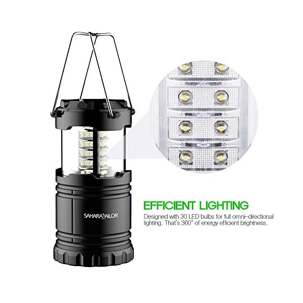 Sahara Sailor LED Camping Lantern Outdoor, New Ultra Bright Portable LED Flashlights IPX4 Water Resistant Lamp Battery…
