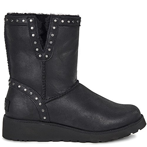 Ugg Australia Women's Cyd Leather Women's Leather Boots In Black 100% Leather negro