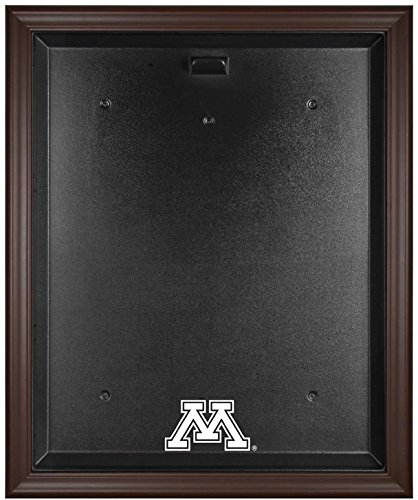 Sports Memorabilia Minnesota Golden Gophers Brown Framed Logo Jersey Display Case - College Jersey Logo Display Cases - Display Logo Browns Case
