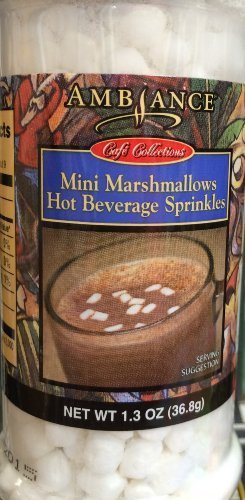 Ambiance Collection - 1.3oz Ambiance Coffee Collections Hot Beverage Sprinkles, Mini Marshmallows, Pack of 1 by Ambiance