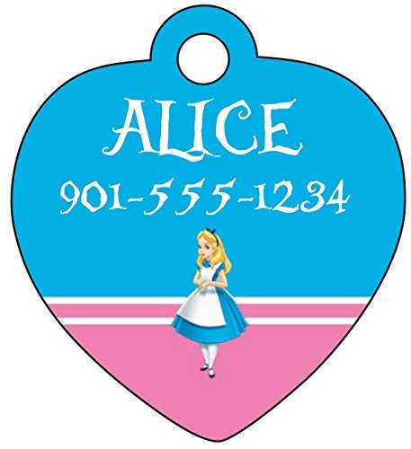 Disney Princess Alice Custom Pet Id Tag for Dogs & Cats Personalized w/Name & Number]()