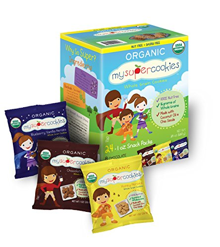 MySuperCookies Organic, Nut-Free Whole Grain Cookies - Variety Pack - 1oz - 24 pk