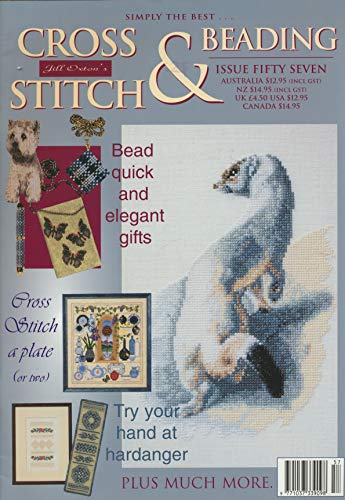 Cross Stitch & Beading : Charted Designs- West Highland Terrier; Tartan Bracelet; Tartan Swatches; Butterfly Beaded Bag; Rose Hardanger Sampler; Blue Gingham Bookmark; Stoat; Iris ()