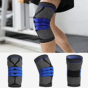 489886b378 Winbang Knee Pad, Nylon Silicon High Compression Padded Kneecap Cover  Breathable Brace Knee Sleeve Outdoors Anti-collision, XL Black:  Amazon.co.uk: Sports & ...
