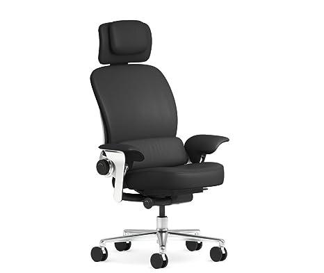 Fabulous Steelcase Leap Worklounge Office Desk Chair Elmosoft Ebony Leather With Standard Casters Creativecarmelina Interior Chair Design Creativecarmelinacom