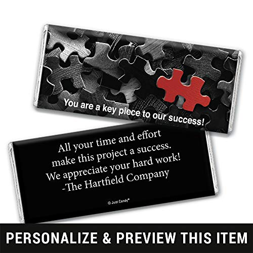 Thank You Candy Favors Personalized Wrappers for Hershey's Chocolate Bars (25 Count)