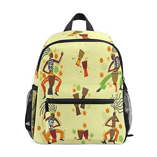 Jojogood Exotic Woman Playing Djembe Toddler Kids School Backpack Durable Kindergarten Shoulder Bag