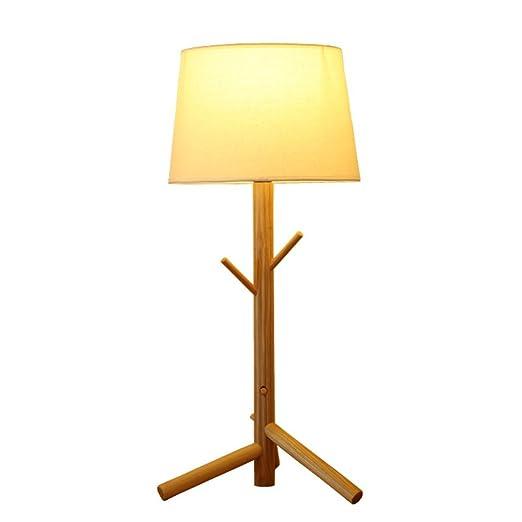 Lámpara de mesa Luz piedra japonés de madera Lámpara de mesa ...
