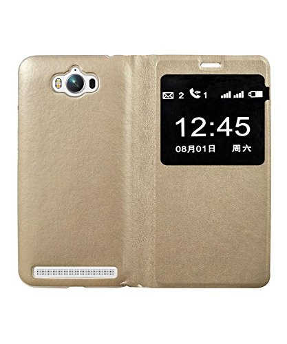 quality design d21ce 58ed8 COVERNEW Flip Cover for Asus Zenfone Max Z010D - Golden: Amazon.in ...