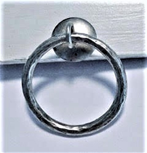 Ring Shade Pulls - HAMMERED RING SHADE PULL, ANTIQUE SILVER