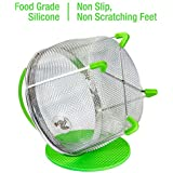 Instant Pot Accessories Insert 8 Quart vegetable Steamer Basket (3qt 6qt), Fits InstaPot Pressure Cooker, Insta Pot Ultra Duo Egg Basket, Stainless Metal Strainer Rack, Mesh, Veggie Accessory