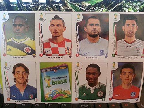 2014 Panini Fifa World Cup Sticker Update Set 72 New
