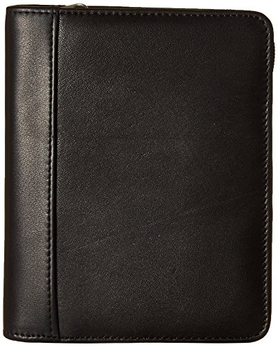 Leather Soft Pda Case - Ciao Soft Leather Zippered PDA Case, Black