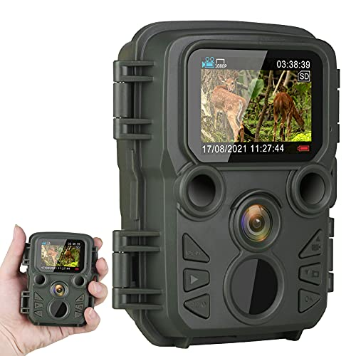 Mini Trail Camera Night Vision ArzzuNiu 12MP 1080P Game Camera with Night Vision Motion Activated Waterproof for Wildlife Monitoring