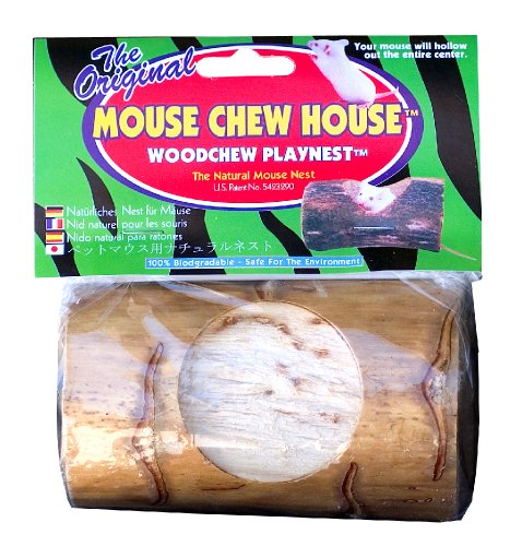 Wesco Pet Mouse Chewhouse Woodchew Playnest