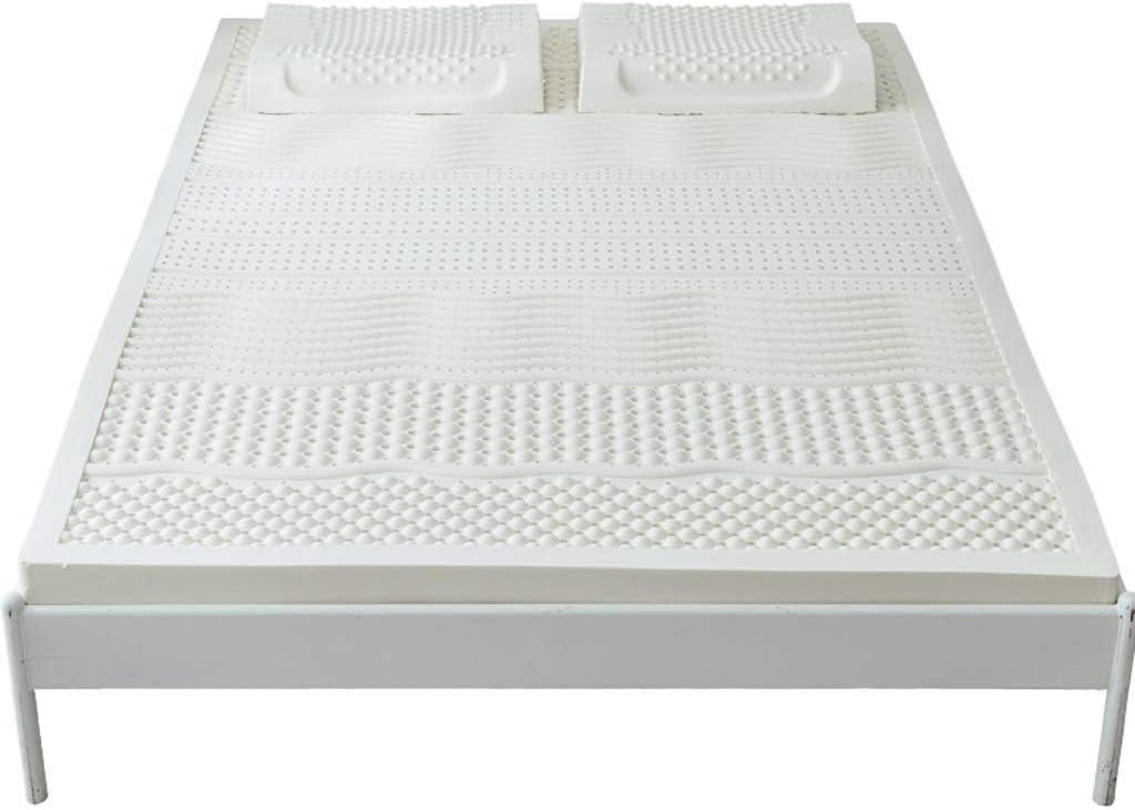 ZZCd Topper 100% Natural Puro del colchón del látex - colchón Suave del látex de los 5cm (Color : B White, Tamaño : 1.2mX2.0m)