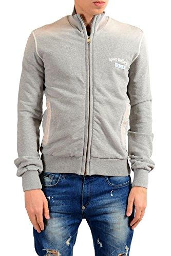 Dolce & Gabbana Gray Full Zip Men's Track Jacket US 2XS IT 44