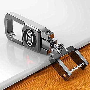 Amazon.com: Amooca Car Smart Key Chain Leather Holder Cover ...