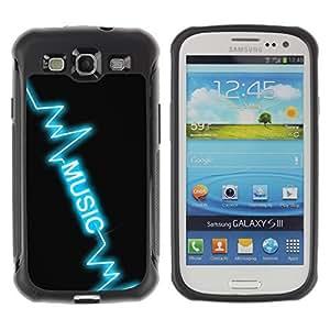 Hybrid Anti-Shock Defend Case for Samsung Galaxy S3 / Music