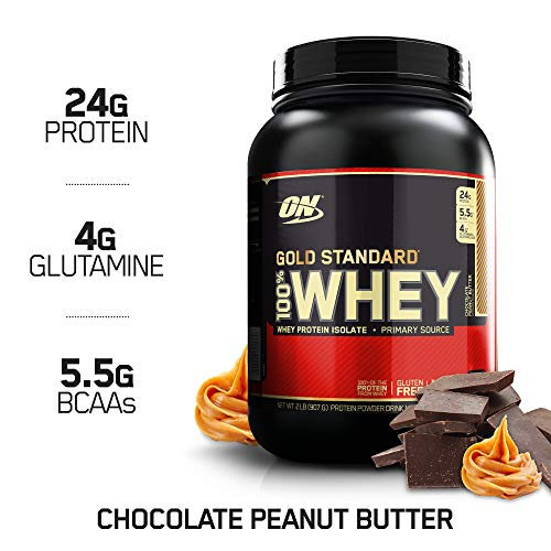Optimum Nutrition Gold Standard 100% Whey Protein Powder, Chocolate Peanut Butter, 2 Pound