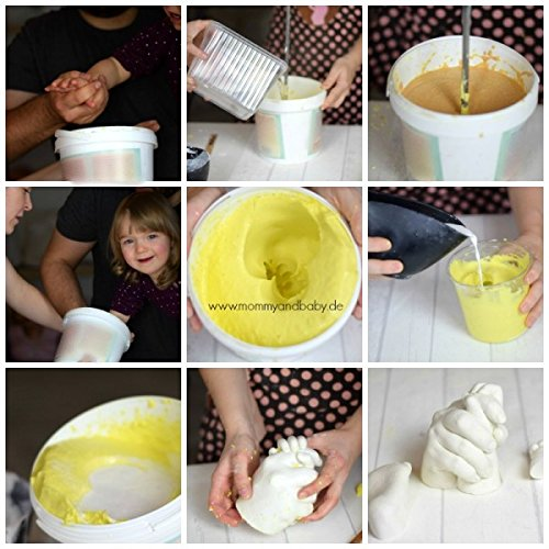 Abdruck Set Taufe AbdruckSet f/ür Mama//Papa /& Baby im GeschenkEimer I Handabdruck Gipsabdruck Baby 3D Geburt