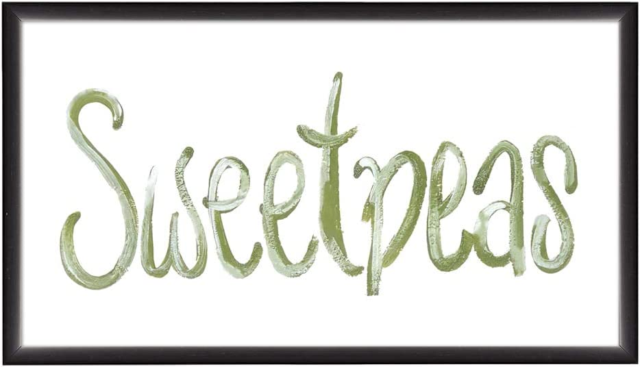 EricauBird Wood Sign,Sweetpea Custom Wood Sign,Primitive Wood Sign,Garden Gift,French Country Decor,Garden Decor, Wood Sign,Gift for her,Wood Garden Sign Decorative Home Wall Art 12x22