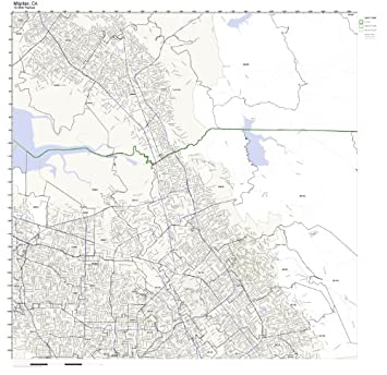 Amazon.com: Milpitas, CA ZIP Code Map Laminated: Home & Kitchen