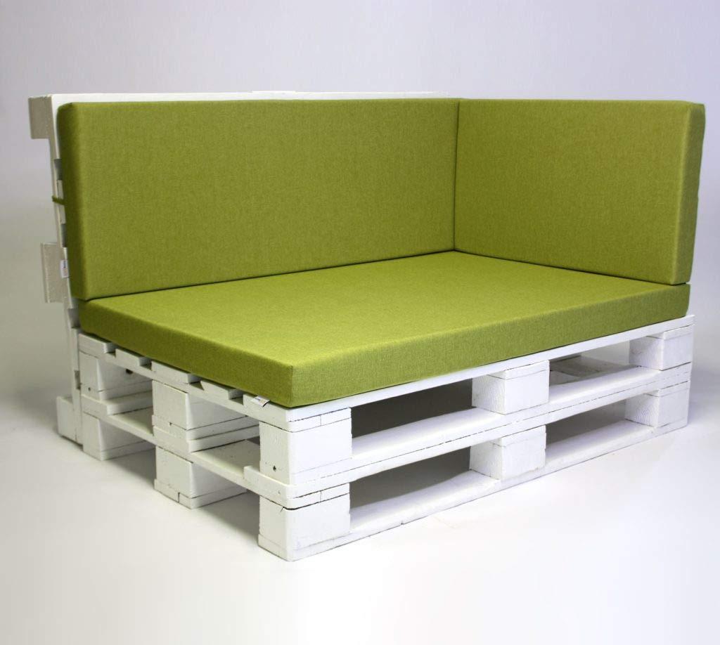 SuperSack - Cuscino Imbottito per Divano a Pallet, Modello Savana, 72 x 42 x 8 cm, colore  verde