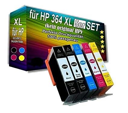 5 Cartuchos de Impresora compatibles con HP con Chip para ...