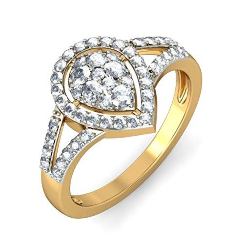 Or jaune 18K, 0,55carat Diamant Blanc (IJ | SI) en diamant