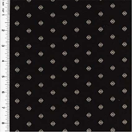 Amazon.com: Designer Cotton Black Foulard Print Home ...